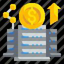 data, dollar, investment, money icon