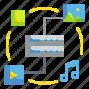 data, multimedia, variety icon