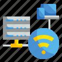 data, internet, wifi, wireless icon