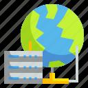 computer, data, file, internet, world icon