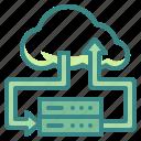 cloud, computing, data, internet, server icon