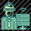 big, data, engineer, job, occupation icon