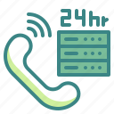 customer, help, service, supports, telephone icon