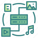 big, data, multimedia, variety icon