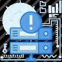 alert, danger, notification, rack, server, storage, warning