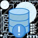alert, data, notification, rack, server, storage, warning
