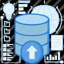 arrow, rack, server, storage, transfer, up, upload
