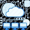 cloud, computer, data, database, network, sharing, transfer