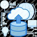 arrow, cloud, server, storage, transfer, up, upload