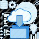 arrow, cloud, data, download, file, folder, storage