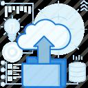 arrow, cloud, data, file, folder, storage, upload