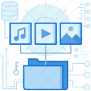 data, database, file, folder, media, multimedia, storage