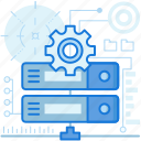 cogwheel, gear, network, options, preferences, server, settings