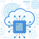 chip, cloud, data, database, microchip, storage, transfer icon