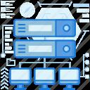 computer, monitor, network, rack, screen, server, transfer