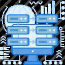 data, database, rack, server, sharing, storage, transfer