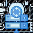 arrow, arrows, configuration, rack, server, sync, synchronize