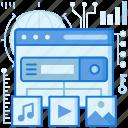 browser, media, multimedia, music, play, webpage, website