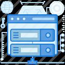 browser, data, rack, server, storage, webpage, website