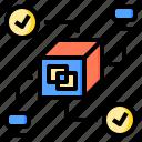 analysis, connection, hardware, innovation, internet, performance, server icon