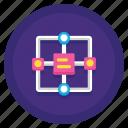algorithm, data, storage icon