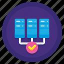 cluster, computing, storage icon