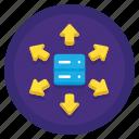 data, sharing icon