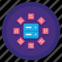 combining data, data, etl icon