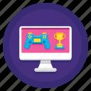 data, database, gamification icon