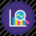 analytics, data, graph icon