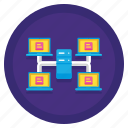 computing, data, grid icon