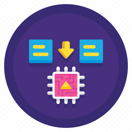 computing, data, in, memory icon