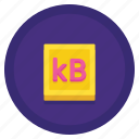 data, kilobyte, storage icon