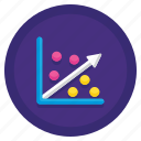 data, linear, regression icon
