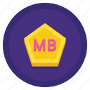 data, megabyte, storage icon