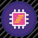 core, data, processor, quad icon
