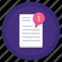 data, document, readme icon
