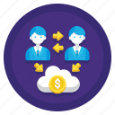 cloud, data, hosting, reseller icon
