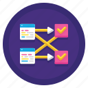 data, processing, stream icon