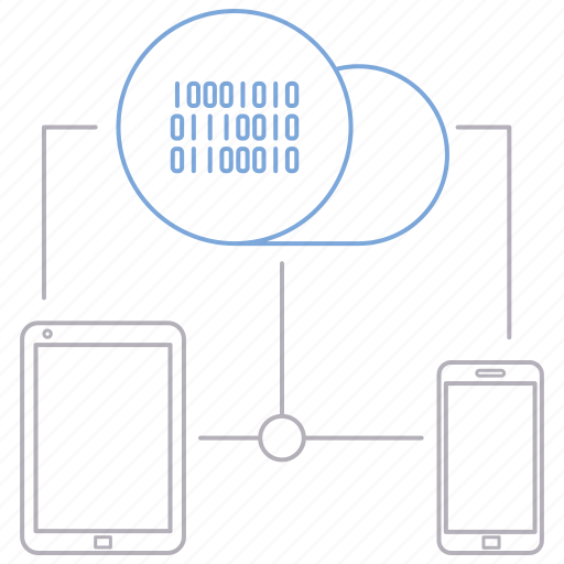 big data, connectivity, database, server, technology icon