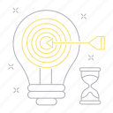 big data, database, idea, server, setting, target, technology icon