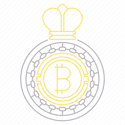 bitcoin, crown, cryptocurrency, digital, king, technology icon