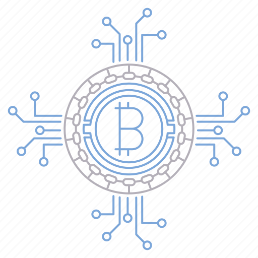 bitcoin, circuit, cryptocurrency, digital, money, technology icon
