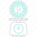 balance, bitcoin, cryptocurrency, digital, technology icon