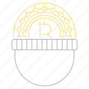 bitcoin, criminal, cryptocurrency, digital, steal, technology, thief icon