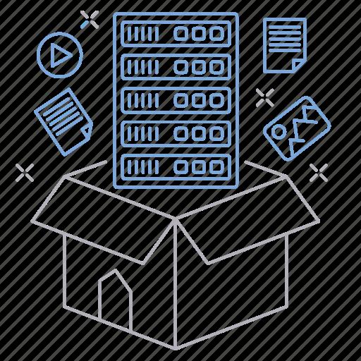 big data, data, database, server, storage, technology icon