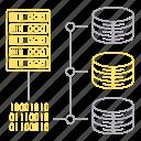 big data, database, protocol, server, technology icon