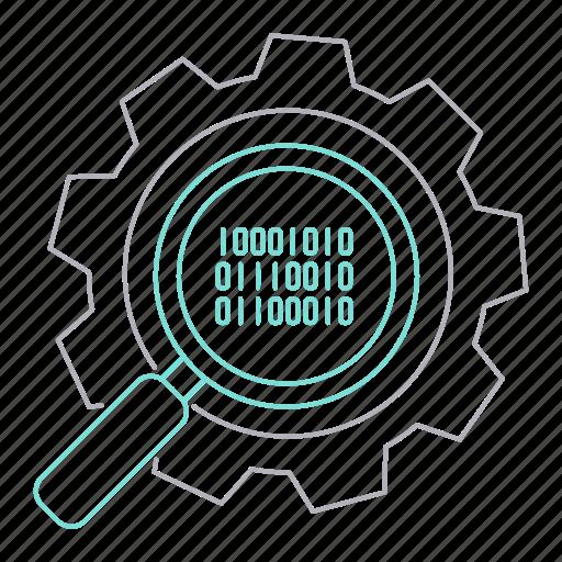 big data, database, optimization, search, server, technology icon