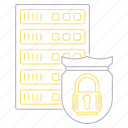 big data, database, protect, server, shield, technology icon