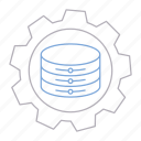 big data, cog, database, server, setting, technology icon
